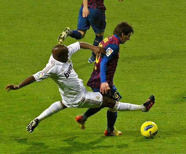 real madrid vs barcelona el clasico soccer match of spain. classic of spain
