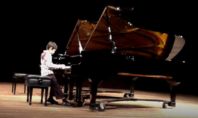 Theo's first piano recital at UP Diliman