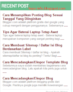 Cara-membuat-recent-post-di-blog