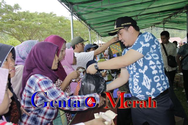 Gelar Pasar Murah Ramadhan Pemda Pesawaran Diserbu Warga