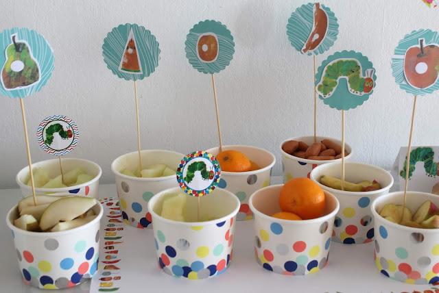 Food Hungry Caterpillar Raupe Nimmersatt Muffins Geburtstag Jules kleines Freudenhaus