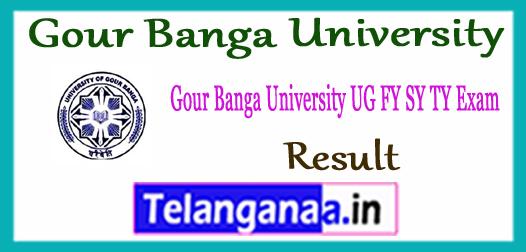 Gour Banga University Part 1st 2nd 3rd Semester Exam Result 2017
