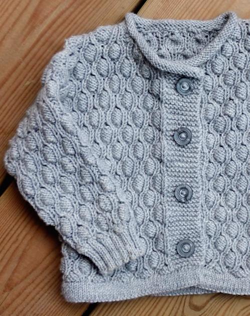 Pod Stitch Baby Cardigan - Free Pattern