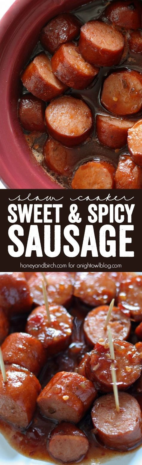 Slow Cooker Sweet Spicy Sausage