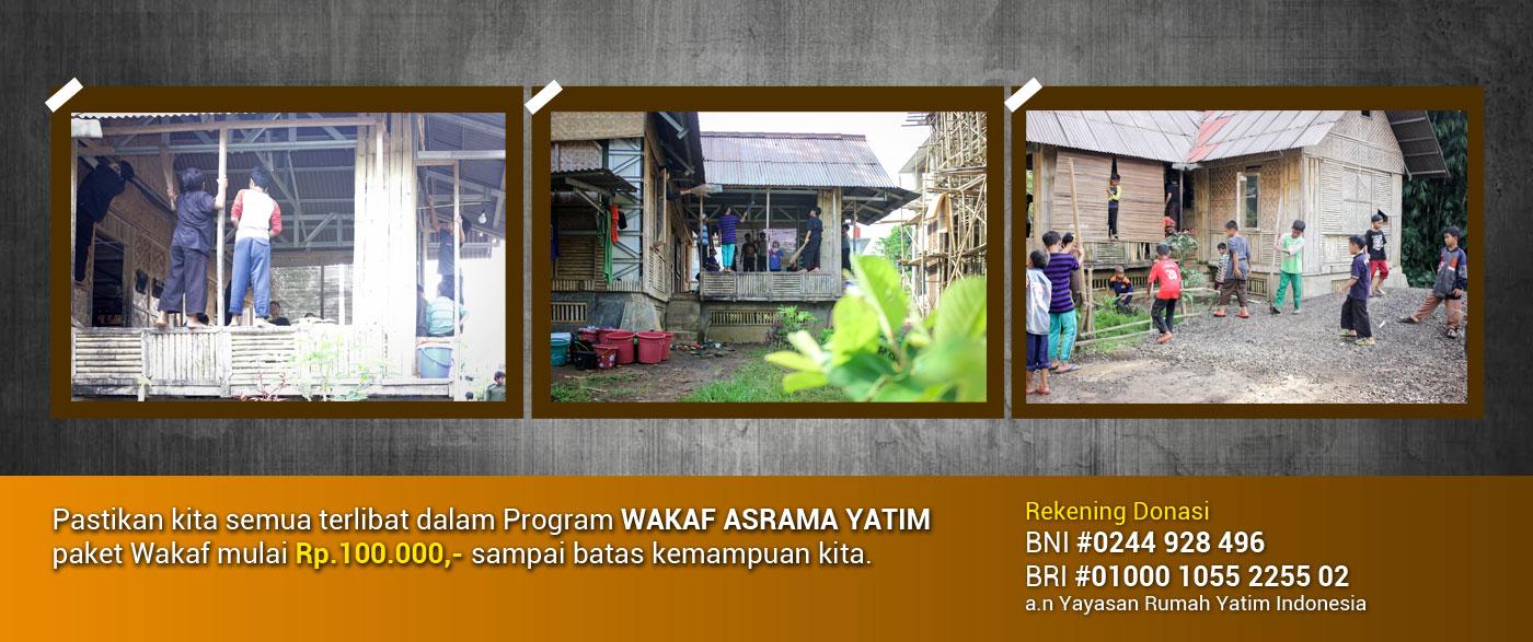 Wakaf Pembangunan Masjid Rumah Yatim Indonesia