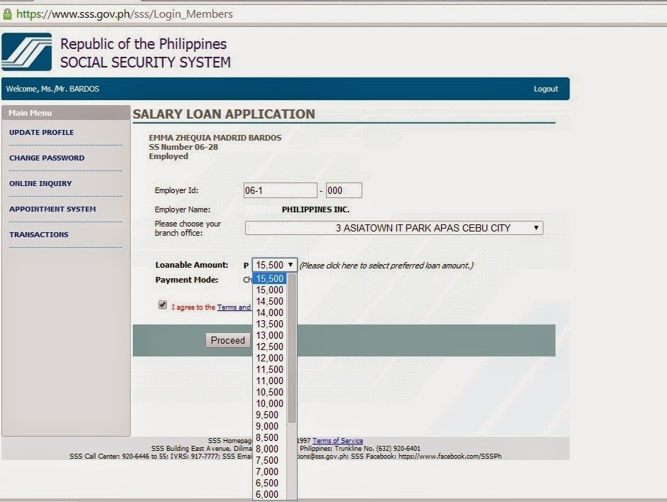 SSS Online Loan Application - Food, Travel and Whatevs