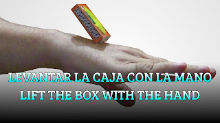 Levantar la caja con la mano, SKIN ELASTICITY MAGIC TRICK, Lift the box with the hand