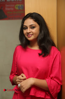 Actress Arundathi Nair Stills in Red Chididar at Bethaludu Success Meet  0035.JPG