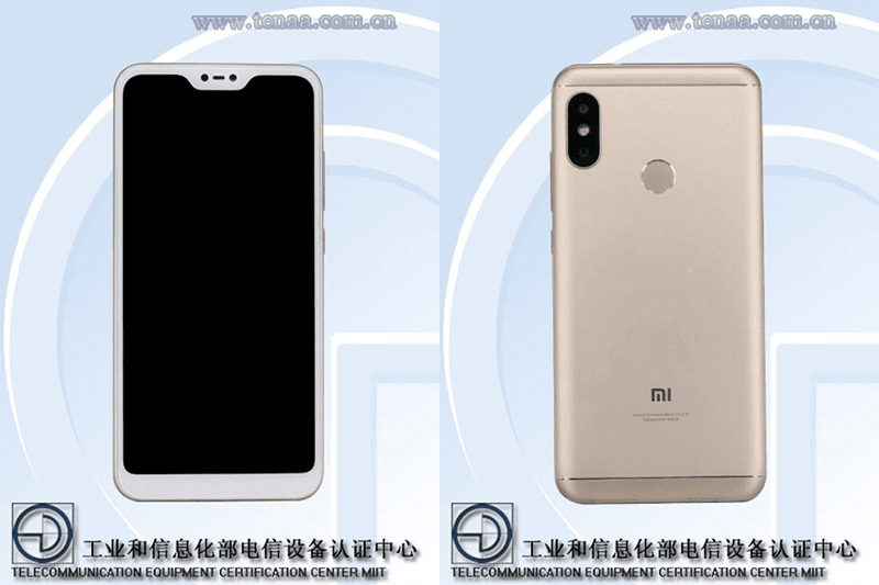 Xiaomi has an upcoming smartphone with notch and bezels