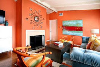warna cat ruang tamu 2 warna di rumah minimalis