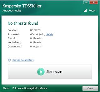 تحميل برنامج الكشف عن الجدور الخفية أو rootkit والتصدي لها 3.1.0.12 TDSSKiller