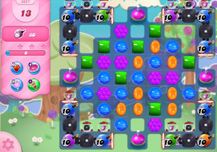 Candy Crush Saga level 3057