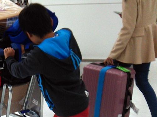 3月29日の朝。成田空港へ到着