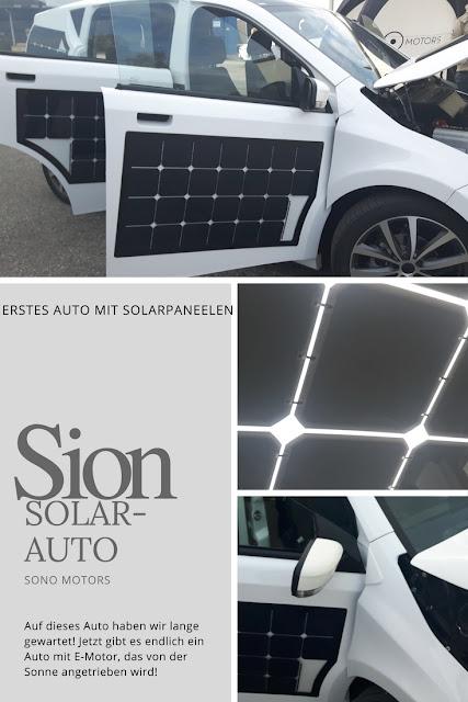 erstes Auto das mit Sonnenenergie auftankt