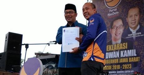 Partai Nasdem Dukung Ridwan Kamil Tanpa Mahar Politik, Ini Alasannya