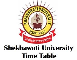 Shekhawati University Sikar Exam Time Table 2018