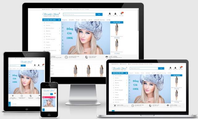 Template blogspot chuẩn seo bán hàng váy đầm dành cho nữ