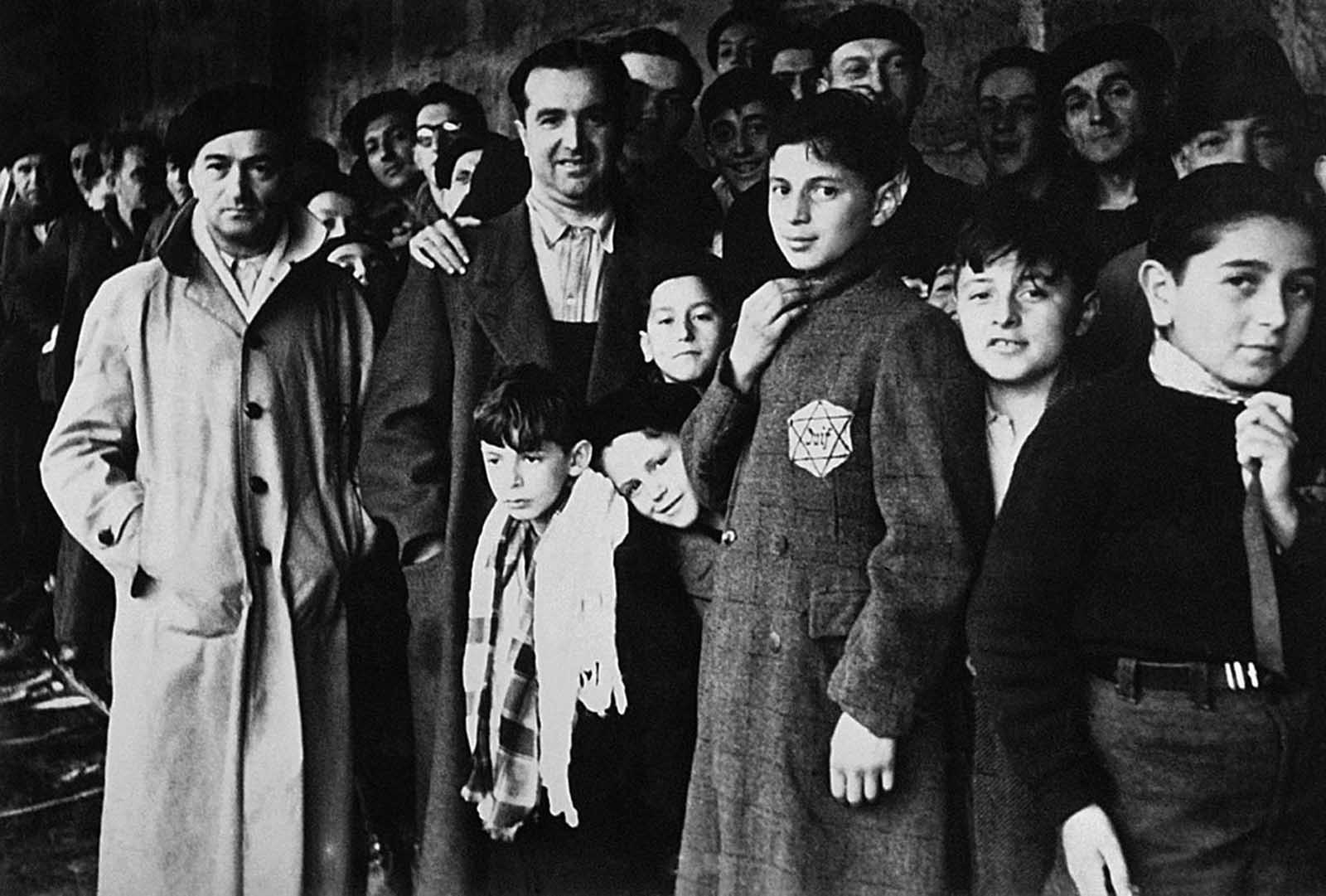 Jewish deportees in the Drancy transit camp near Paris, France, in 1942, on their last stop before the German concentration camps. Some 13,152 Jews (including 4,115 children) were rounded up by French police forces, taken from their homes to the