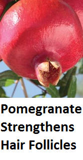 Health Benefits of Pomegranate Fruit (anar fruit) juice - Pomegranate Strengthens Hair Follicles