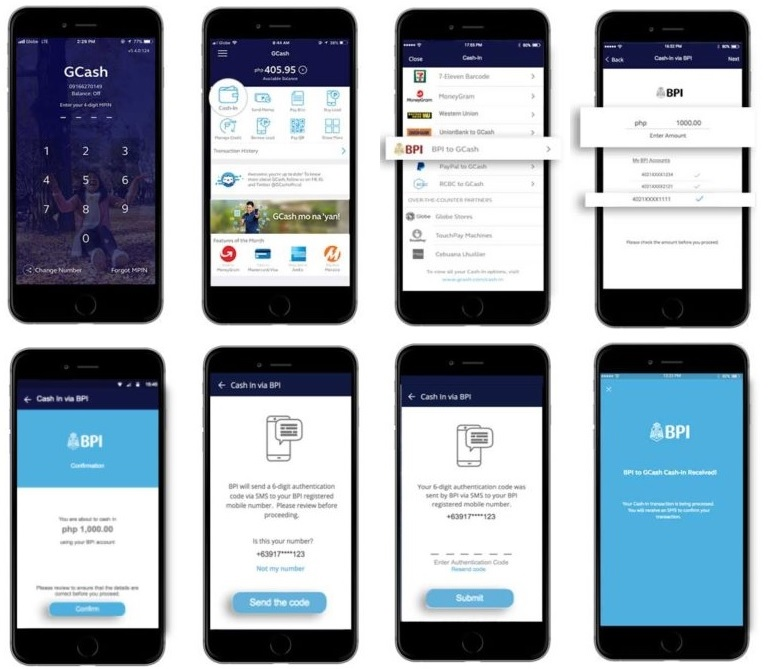 Cash-in to GCash using your bank account