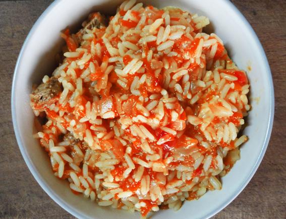 arroz a la bolognesa