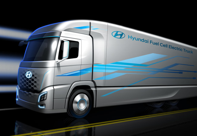 Tinuku Hyundai unveils image of hydrogen truck ahead of 2019 launch