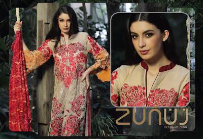 8 Zunn Definition Emb Khaddi - Pure Net Formal 2018