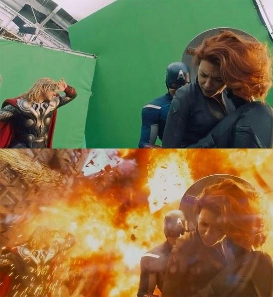 Os Vingadores efeitos especiais