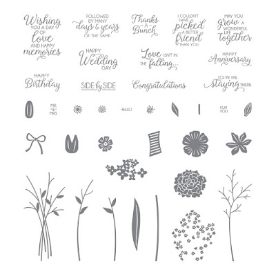 Take a look at the Beautiful Bouquet stamp set by Stampin' Up!