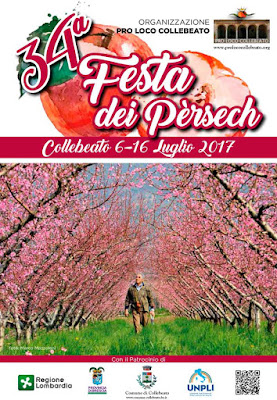 La Festa dei Pèrsech (delle pesche) dal 6 al 16 luglio Collebeato (BS)