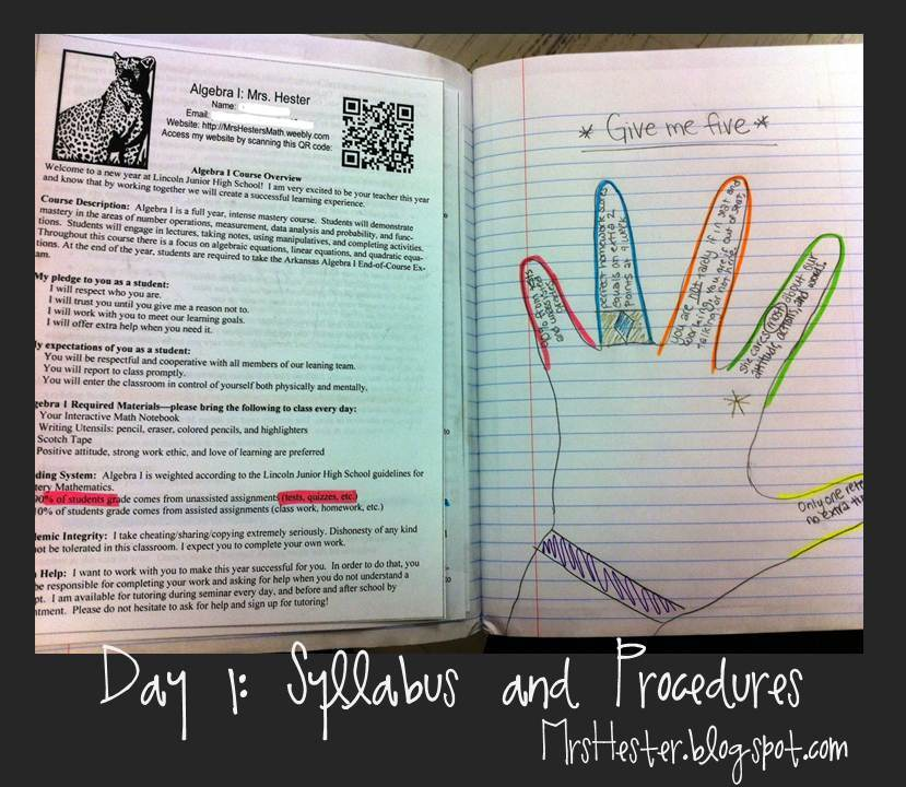 Mrs. Hester\'s Classroom : Interactive Notebooks: Day 1