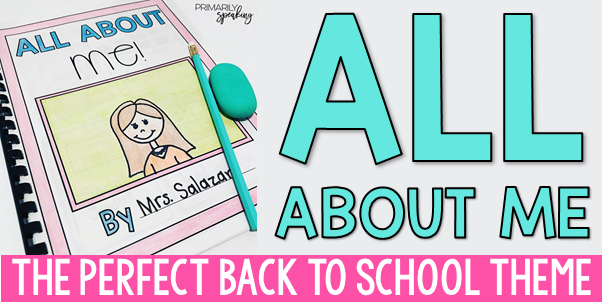 All About Me Back to School Project Idea