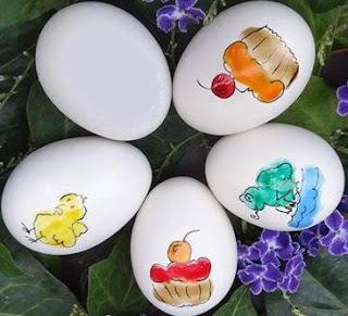 cara melukis telur dengan jari untuk hiasan