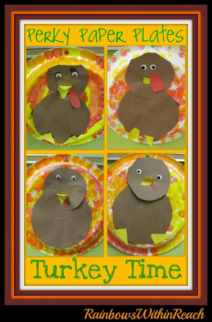 photo of: Paper Plate Art Project Turkeys for Thanksgiving