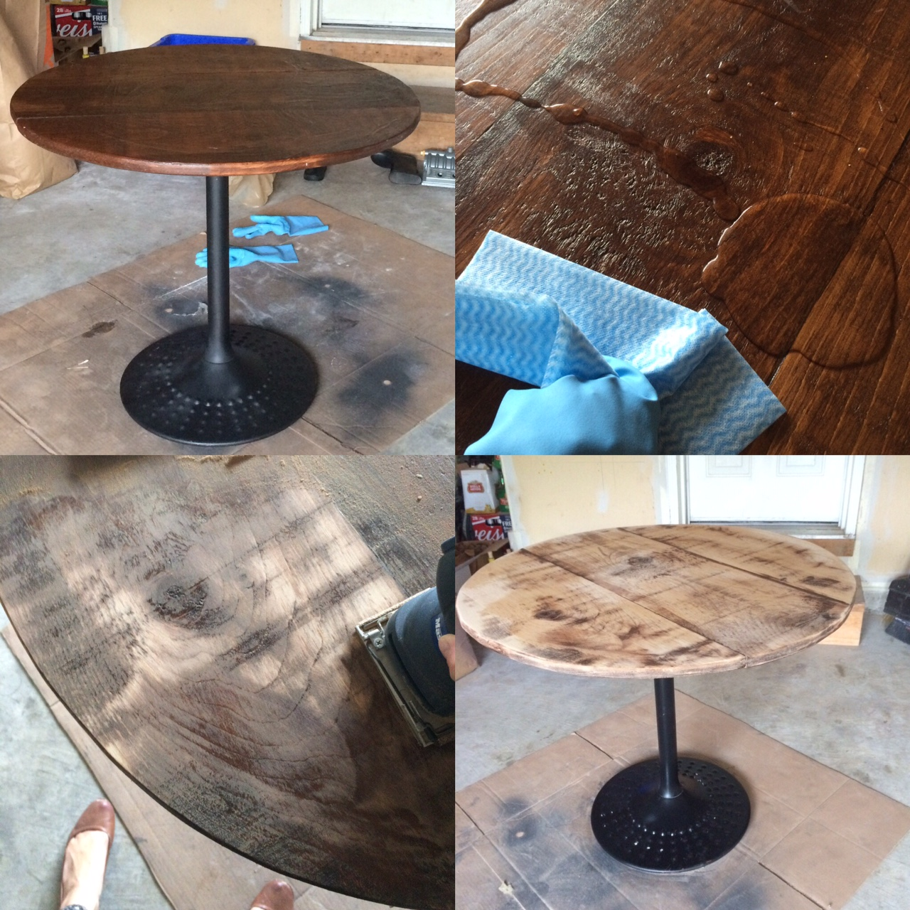DIY Furniture Staining - How to strip and stain wood ...