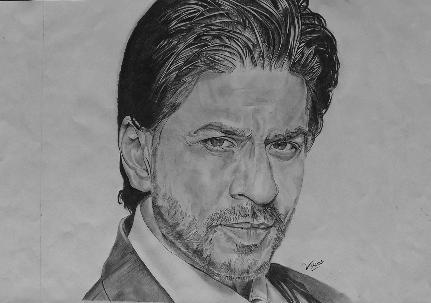 Sourcewing shah rukh khan pencil drawing