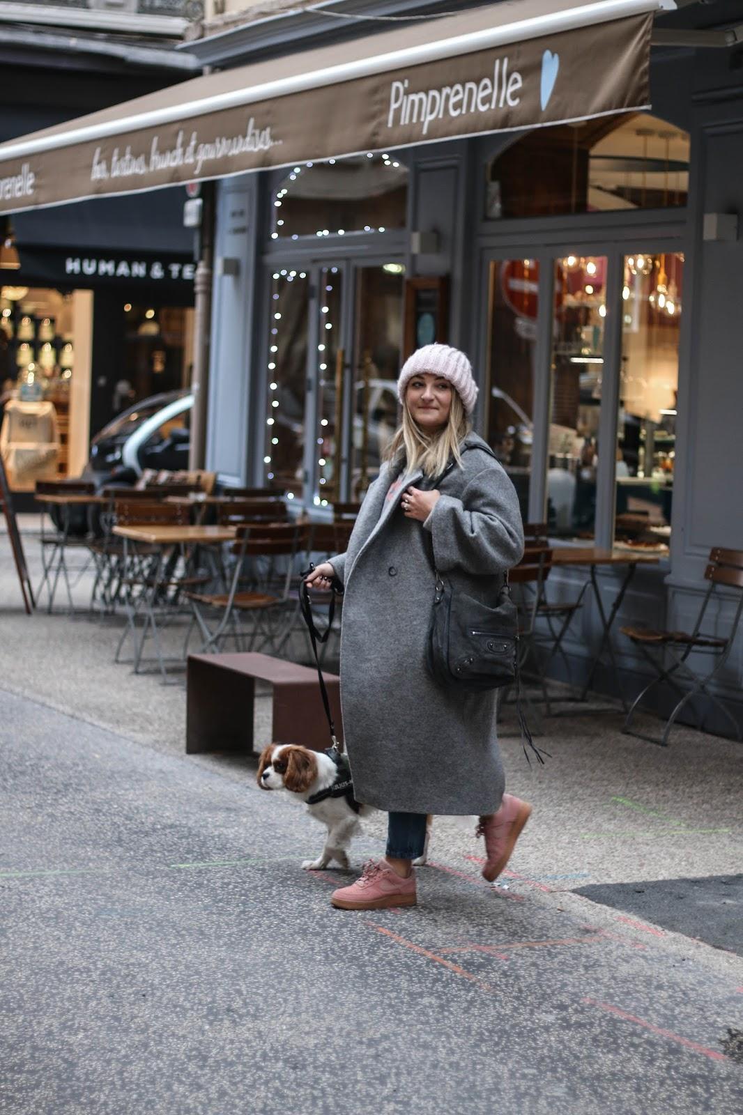 manteau oversize gris h&m parisgrenoble