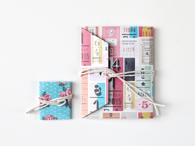 Diy shipping tag notebooks