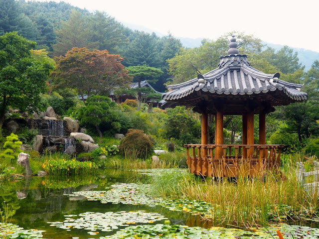 Pond Garden in the Garden of Morning Calm, Gyeonggi-do, South Korea