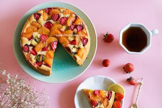 Fruits Pastry Cake - Butter Cake Lembut Bertabur Aneka Buah