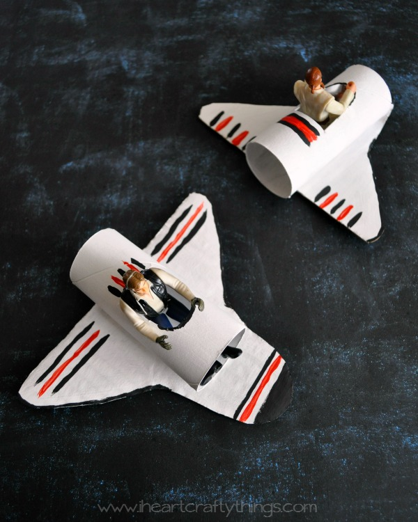 Space Shuttle Toilet Paper Roll Craft