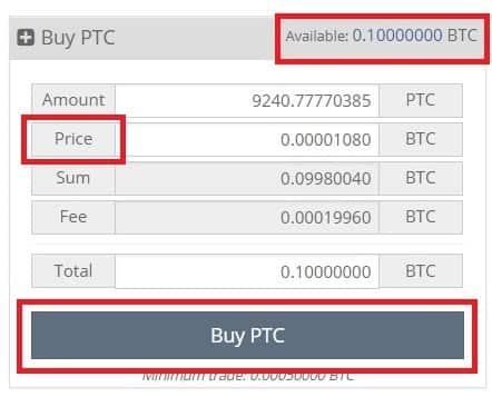 comprar pesetacoin PTC