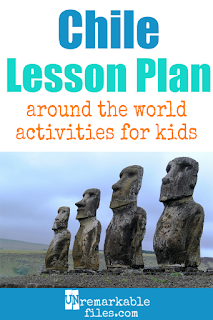 Building the perfect Chile lesson plan for your students? Are you doing an around-the-world unit in your K-12 social studies classroom? Try these free and fun Chile and Easter Island activities, crafts, books, and free printables for teachers and educators! #chile #easterisland #lessonplan #geography