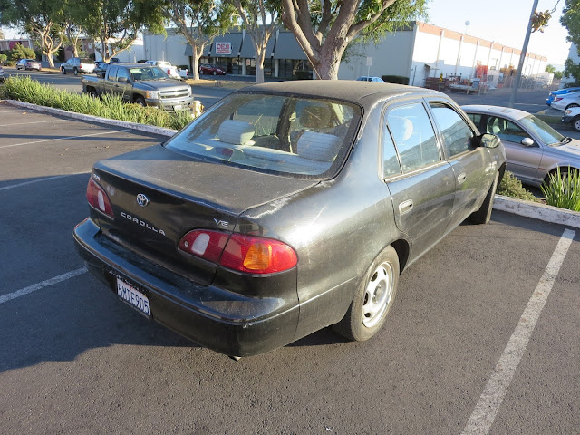 Toyota Corolla with peeling clear coat before repairs at Almost Everything Auto Body
