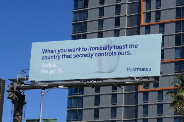 vodka toast Postmates billboard
