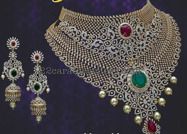 Heavy Diamond Set by Neelkanth Jewellers