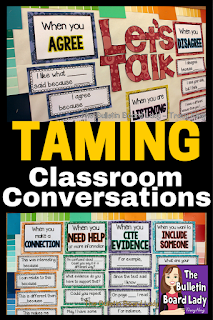 Classroom conversations can be powerful tools for learning.  Learn how to help students have them in a meaningful way and not a chaotic free for all.  Advice for new teachers, veterans and all special areas on how to get students to agree and disagree respectfully are discussed in this blog post.