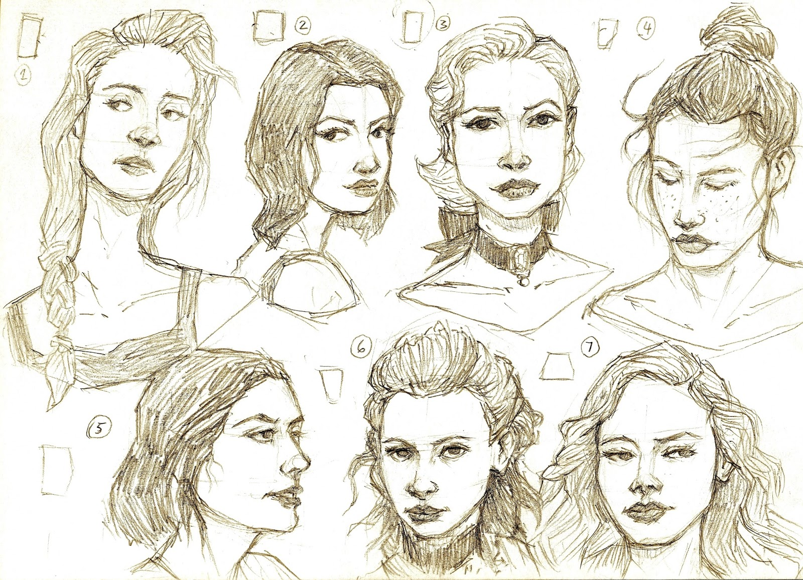 The Robot with the Light Bulb: Face Sketches - 1