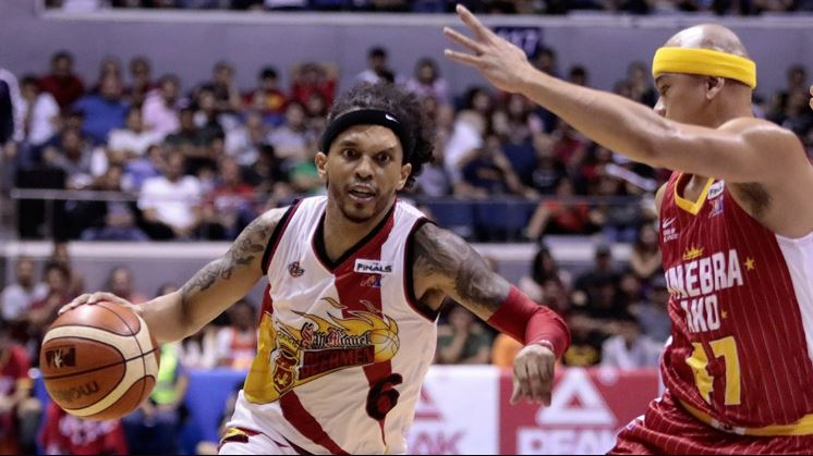 Chris Ross drained 7 three pointers to help San Miguel overpower Ginebra for 2-1 series lead