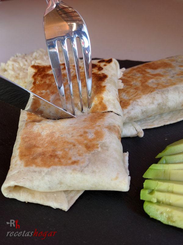 Burritos mexicanos de carne